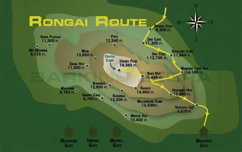 mt kilimanjaro map mt kilimanjaro kilimanjaro routes maps barking zebra tours