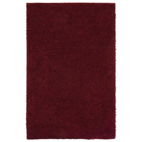 shaw area rugs lowes shop shaw living shaggedy shag rectangular solid tufted area rug common 5 ft x 8 ft