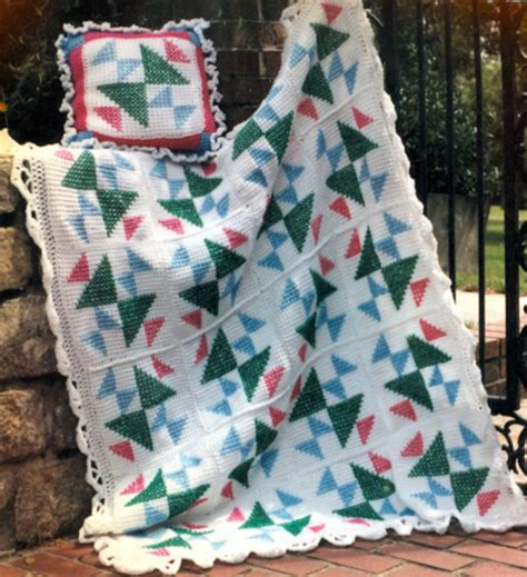 pattern for triangle afghan puzzled triangles afghan allfreecrochetafghanpatterns com
