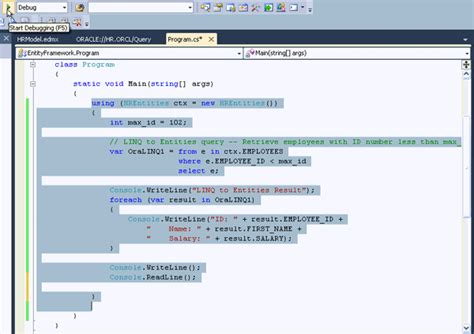 oracle networking tutorial linq 与oracle应用 转帖 reed zhang 博客园