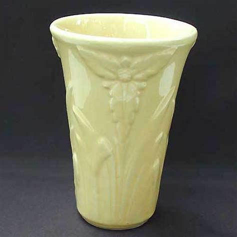 Shawnee Pottery Vase by Shawnee Pottery Floral Vase Yellow Vintage From