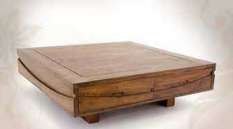 table basse salon bois massif table basse