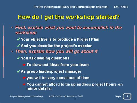 how did get started how do i get the workshop started