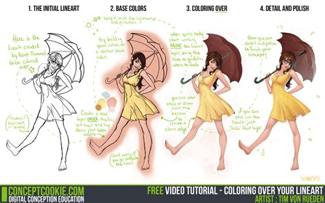 tutorial photoshop line art tutorial coloring over your lineart by conceptcookie on