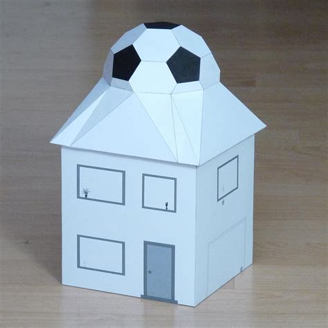 house of football paper football house