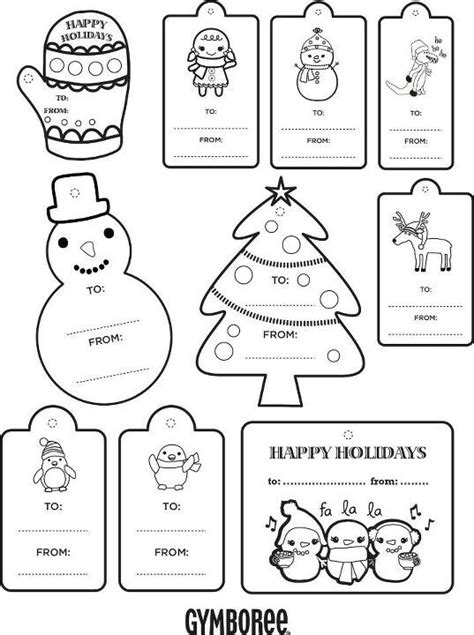 coloring page christmas tags 1000 images about kids color and cut projects on