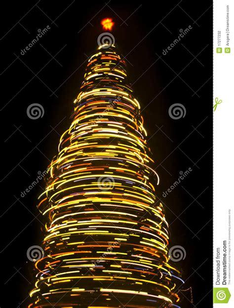blurred rotating christmas tree stock photography image