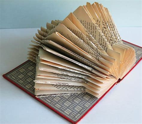 Folding Paper Books - 266 best book folding images on folded book