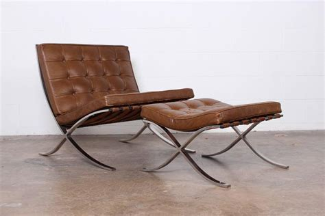 Barcelona Chair And Ottoman By Mies Van Der Rohe For Knoll Barcelona Chair And Ottoman