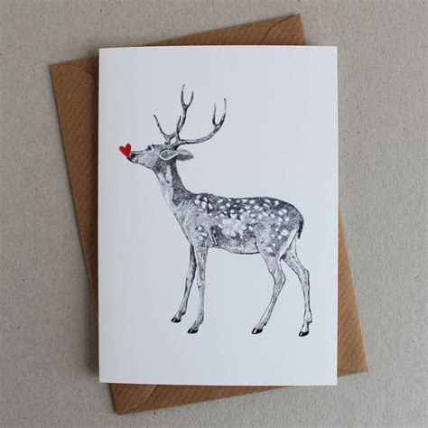 raindeer shiers pack of five deer greeting cards by ros shiers notonthehighstreet