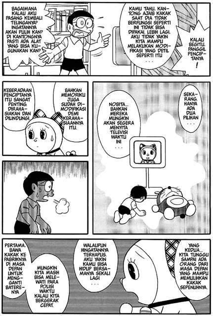 Komik Doraemon Episode Terakhir, Takut Menangis Jangan