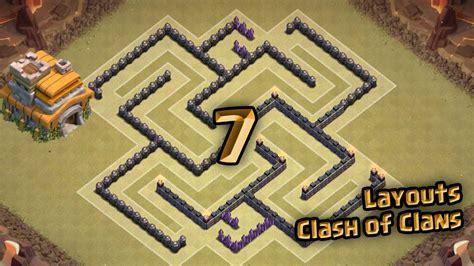 layout cv 7 guerra youtube layout clash of clans melhor layout de guerra para