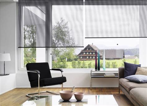 Living Room Roller Blinds Sunscreen Roller Blinds In This Living Room Demonstrate