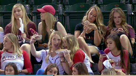 hot chick at brewers game baseball announcers poke fun at group of sorority girls