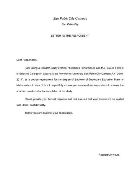 Letter Of Permission To Conduct A Research Dissertation Letter Permission