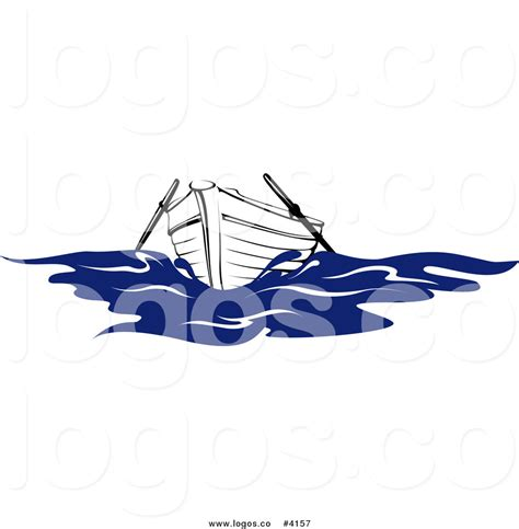 row boat graphic royalty free row boat in water logo by vector tradition sm