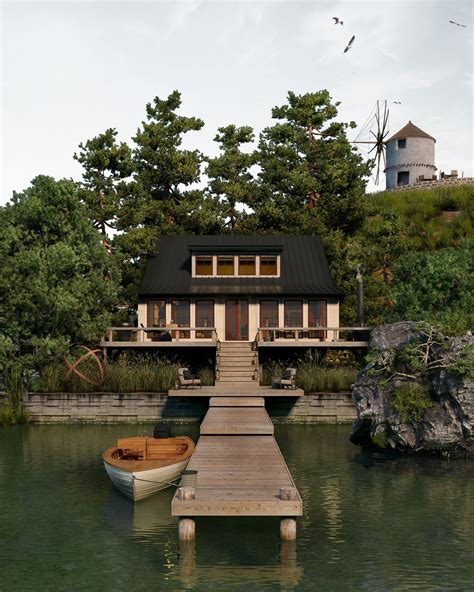 lake house cgarchitect professional 3d architectural visualization user community lake house
