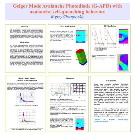 geiger mode avalanche photodiode self quenching