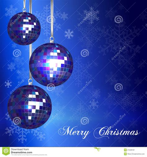 Christmas Card Template Blue Stock Vector Illustration Of Ball Decorative 21228181 Card Template Blue
