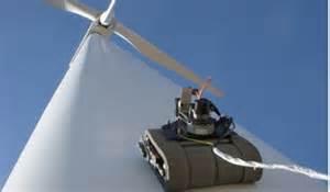 robotic wall robotic crawler climbs wind turbines inspects blades