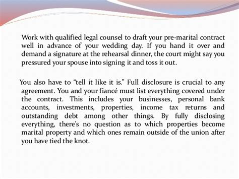 How Would You Draft Your Prenup by Prenuptial Agreements Broken To Protect You In A Up