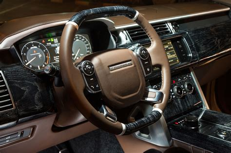 black land rover interior 2016 land rover range rover adds holland holland model