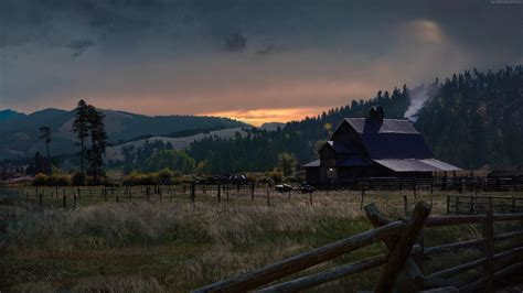 cry  game sunset  farm hd  wallpaper