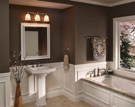 brown painted bathrooms marvelous brown accents wall painted for bathroom ideas with elegant vanity plus