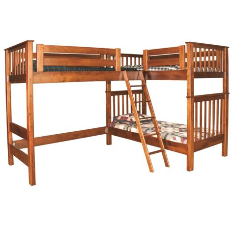 L Shaped Loft Bunk Bed L Shaped Loft Bunk Bed Amish Handcrafted Country Furniture