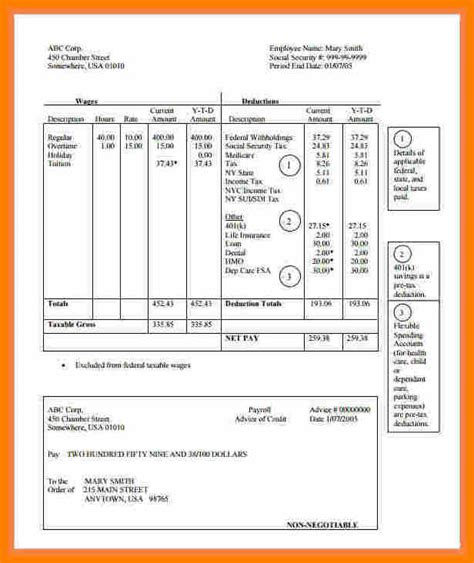 6 Quickbooks Pay Stub Template Pay Stub Format Quickbooks Paycheck Stub Template