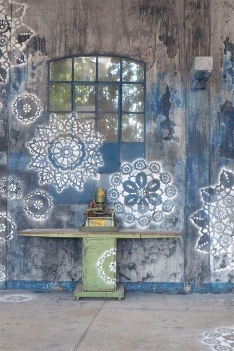 outdoor wall mural stencils best 25 garden mural ideas on fence painting
