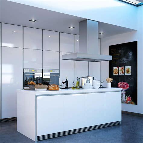 Bien Ilot Central Cuisine Dimension #5: Modern-white-kitchen-island.jpg
