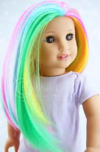 colorful wigs pastel rainbow radiance doll wig for custom