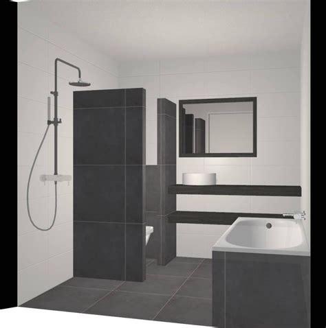 badkamer bad en inloopdouche kleine badkamer met bad 233 n douche beniers badkamers