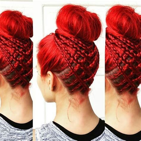 red braids in a bun 503 best images about hair on pinterest her hair holly