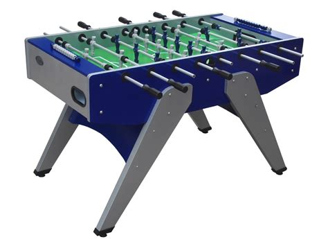 berner billiards outdoor foosball table in blue outdoor