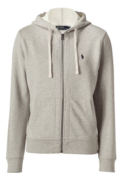 Sweater Jaket Zipper Hoodie Armour Athleticsgray polo ralph light sport classic athletic hoodie jacket in gray for grey lyst
