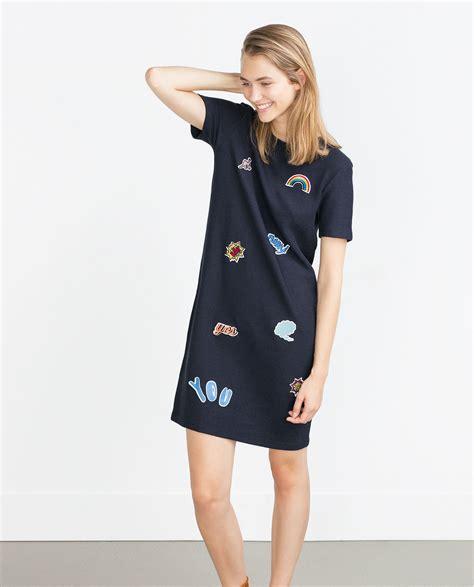 Zahra Dress zara patch dress in blue lyst