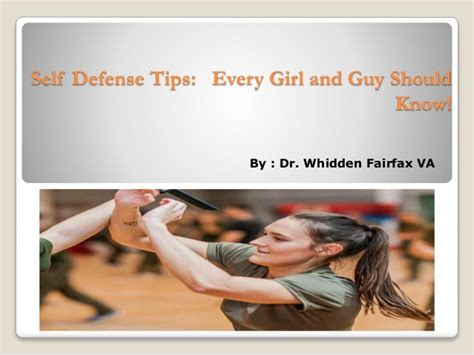 8 Self Defense Tips Every Should by Dr Whidden Fairfax Va Self Defense Tips That Every