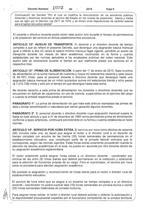 decreto de salario docente 2015 decreto salario para docentes y directivos docentes