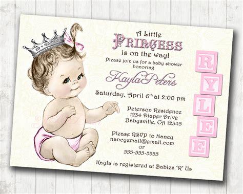 princess baby shower invitation templates free princess baby shower invitation for vintage princess
