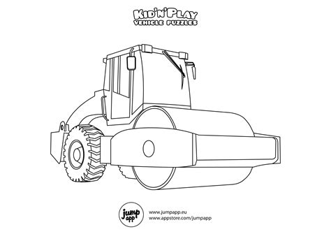Coloring Page Road by Road Roller Printable Coloring Pages