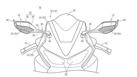 honda files patent mirror winglets  future cbrrr