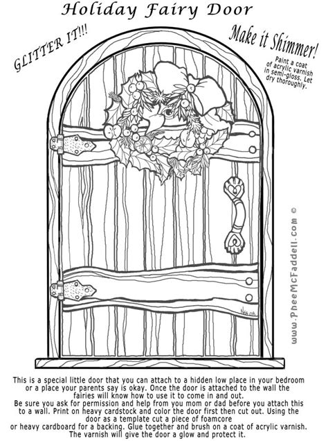 fairy door coloring page 17 best images about fairy doors on pinterest gardens