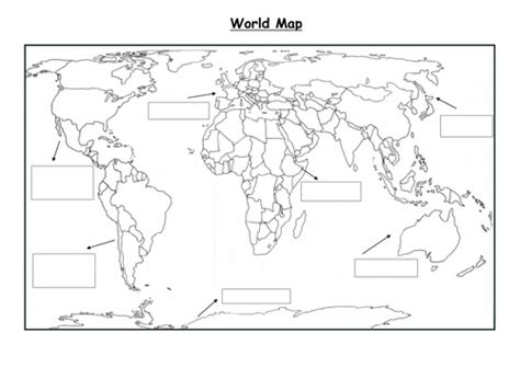 world rivers map ks2 world map with continents by englishgirl8 teaching