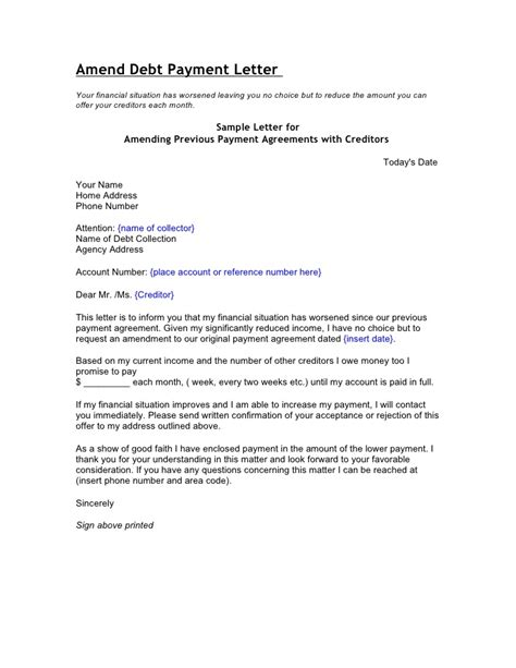 Dispute Agreement Letter Credit And Debt Dispute Letters