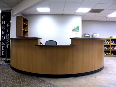 Custom Eliptical Reception Desk By Grayson Artistry In Desk Reception