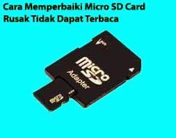 Micro Sd Untuk Handphone cara memperbaiki micro sd card rusak tidak dapat terbaca teknologi