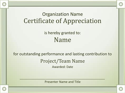 certificate template for appreciation format of