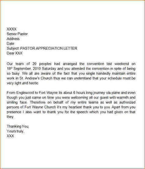 sle appreciation letter to a pastor appreciation letter to husband sle thatcher s when does